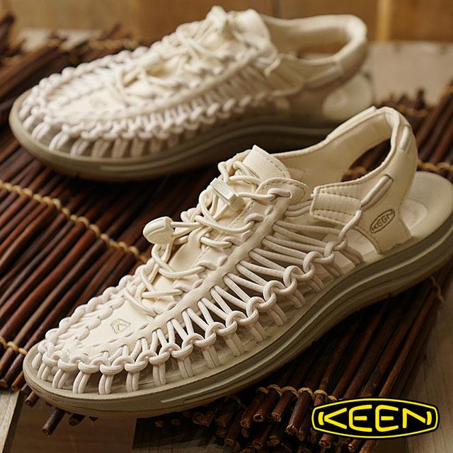 【楽天カードで12倍】KEEN キーン ユニーク サンダル 靴 レディース W UNEEK ユニーク Whitecap/Cornstalk [1018698 SS18]